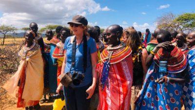 Fiorella in Africa con Amref